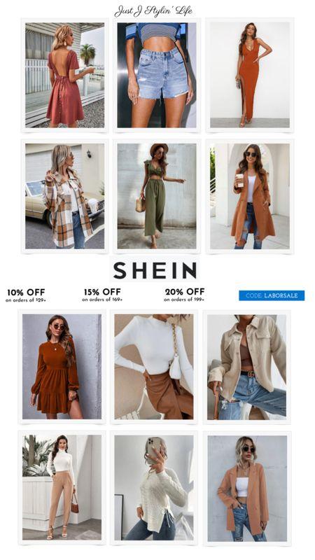 So many amazing fall SheIn finds! All items are $35 or less, most under $25! Use code LABORSALE for an additional % off. Shacket, two piece set, maxi dress, blazer, corduroy jacket, high waist shorts and more. http://liketk.it/3nd9M @liketoknow.it #liketkit #LTKSeasonal #LTKsalealert #LTKunder50