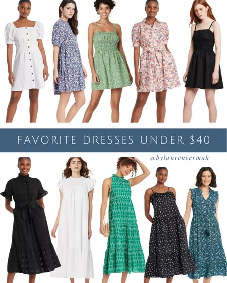 {Favorite Dresses Under $40} So many cute affordable dress options on my radar right now 🤗 To shop, click the link in my profile or you can shop by screenshot in the @liketoknow.it app! #liketkit #LTKunder100 #LTKwedding #LTKunder50 http://liketk.it/3jhqu