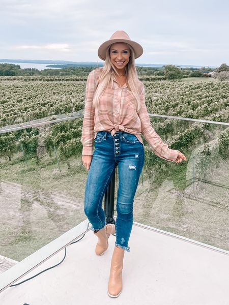 Vineyards are basically field trips for adults and your ID is your permission slip 🍷   The wineries in Traverse City are like none other! Every time it's a beautiful experience.   My look is sponsored by my go to online boutique @shopreddress. The boots are SO good and amazing price! Linked everything in bio with @shop.ltk 🤍 #rdbabe #rdstyle #onlineboutique #traversecitywine #winetour #winetime #vineyard #michiganblogger