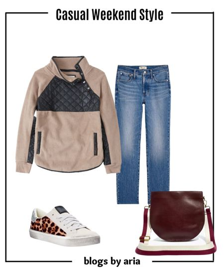 Casual weekend style for fall Fall fashion  Fall ootd  Fall outfit idea  Fall outfit aesthetic   #LTKSeasonal #LTKstyletip #LTKSale