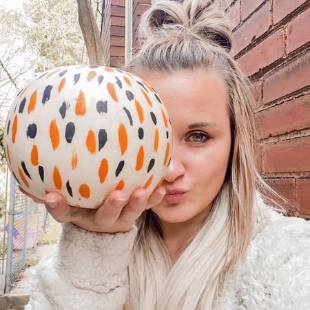 Spooky season is here! DIY'd this pumpkin! Feeling extra cozy in my fuzzy Sherpa pullover quarter zip from Amazon! #amazonfashion #fallfashion #cozy #LTKfall   #LTKunder50 #LTKstyletip #StayHomeWithLTK