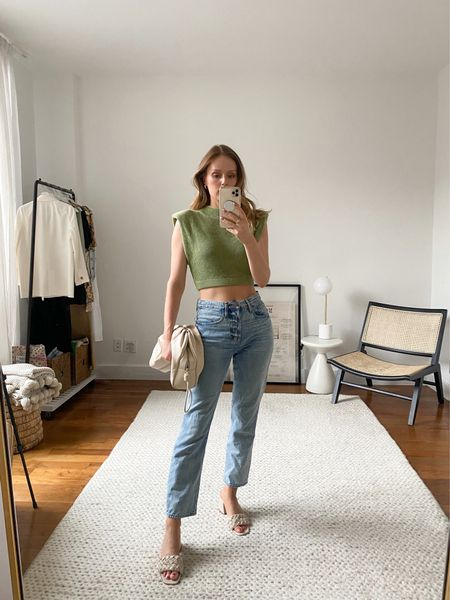 Frame Le Original jeans, Revolve tough, Mark Fisher shoes - fit tts   #LTKstyletip