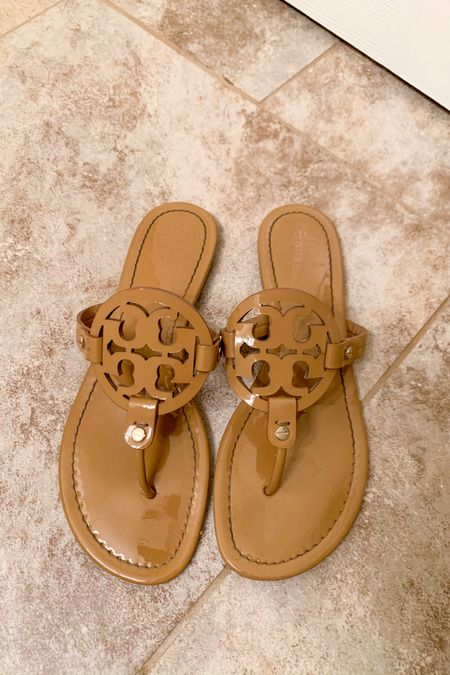 Stop what you're doing & get your debit cards cause Tory Burch Millers are currently on sale🙌🏼😍 these babies NEVER go on sale, so for them to be marked down to $158.40 is huge!!💕 Take advantage while they still have sizes left😌 I wear a 9.5 in mine (usually a 9) and they fit perfect!  Happy shopping🙌🏼 • •  Shop your screenshot of this pic with the LIKEtoKNOW.it shopping app http://liketk.it/2LE3j @liketoknow.it #liketkit #LTKshoecrush #LTKspring #LTKsalealert