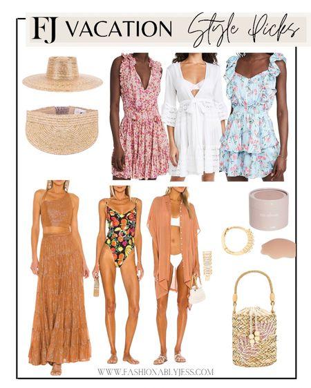 Vacation style  Summer dresses, summer outfits, summer hats, coverups, one piece swimsuit   #LTKswim #LTKtravel #LTKstyletip