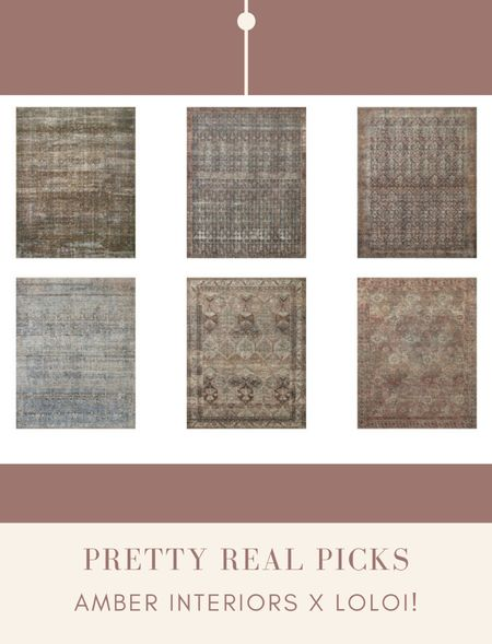New vintage inspired rugs! Get the amber interiors look for less! Loloi, rugs, navy rug, blue rug, coral rug, blush rug, pink rug   #LTKhome