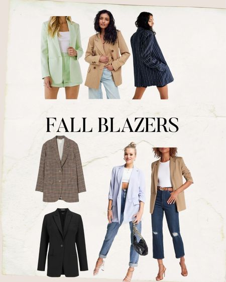 Blazers perfect to dress up or down in the fall!