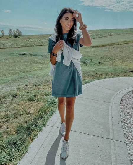 Day 1 of teacher outfits! I am seriously in love with this tshirt dress and can't get over how comfy it is! Right now on sale for only $20!   #LTKbacktoschool #LTKunder50 #LTKworkwear
