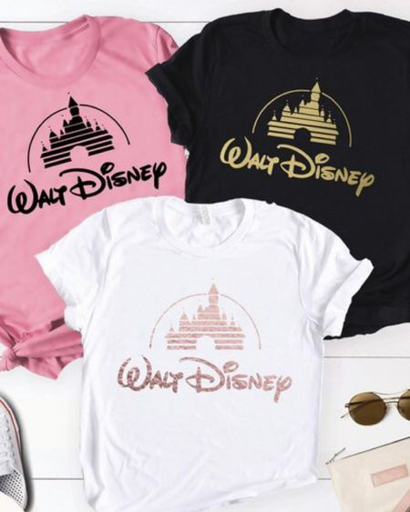 We're headed to Disneyland next month so I'm searching out all the Disney things! So fun!! Mickey Mouse, castle, Princess, Disney bound, etsy, matching shirts, family shirts, disneyworld, glitter, custom shirts, design. Shop your screenshot of this pic with the LIKEtoKNOW.it app http://liketk.it/2zr83 #liketkit @liketoknow.it