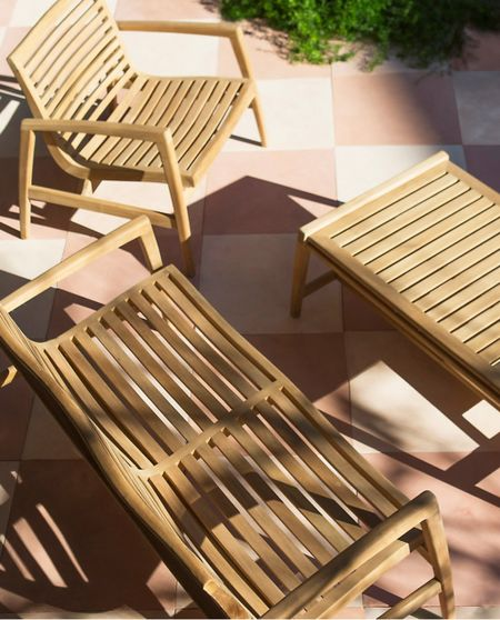 Teak patio furniture set from Terrain outdoor living 🙌 our teak has lasted SO long - worthwhile investment 🪑 #patio #furniture #patioset   #LTKhome #LTKSeasonal