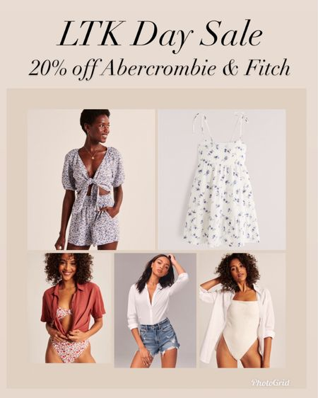 Abercrombie and Fitch 20% off sale for LTK Day  #LTKDay #LTKstyletip #liketkit http://liketk.it/3hjDc @liketoknow.it #LTKsalealert     Abercrombie and Fitch  Spring style  Dresses  Spring dresses  Summer style  Vacation style  Jean shorts  Mom shorts  Denim shorts Bathing suits  Swimsuit Cover up  Swimsuit coverup