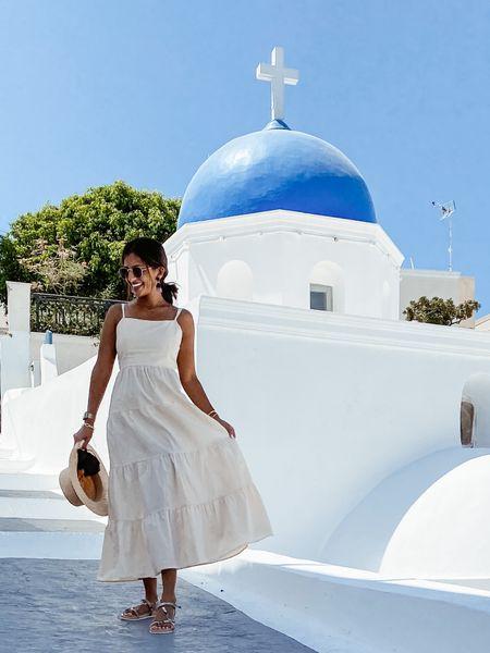 the perfect little white cotton dress to frolick around Santorini in 😬🤍🇬🇷   #amazonfinds #amazondress #amazonfashion #amazon #mididress #cottondress #summerdress   #LTKstyletip #LTKsalealert #LTKeurope