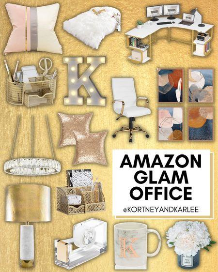Amazon Glam Office!  Amazon home decor | Amazon glam office | Amazon office decor | glam office decor | amazon home decor favorites | amazon home | amazon finds | amazon favorites | amazon home finds | amazon home finds | amazon prime | amazon finds for the home | amazon home favorites | must haves for the home | amazon must haves for the home | Kortney and Karlee | #Kortneyandkarlee @liketoknow.it #liketkit  #LTKunder50 #LTKunder100 #LTKsalealert #LTKstyletip #LTKSeasonal #LTKhome