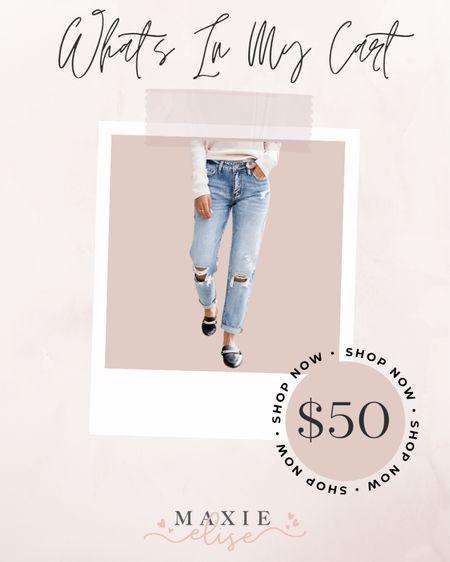 What's In My Cart - Distressed Jeans You Need 🙌🏼  #whatsinmycart #distressedjeans #distresseddenim #pinklily #pinklilyboutique #summerfashion #fallfashion  #LTKstyletip #LTKunder50 #LTKSeasonal