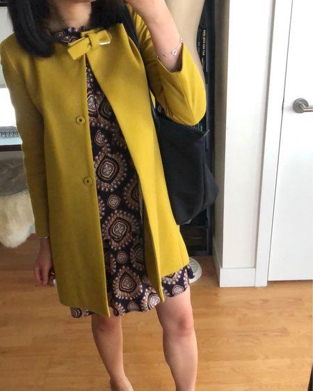 Today's #ootd. Both my coat (crewcuts '12 in size 12) and dress (XXS regular, LOFT circa '15) are old but I linked to them on eBay. ☺️ @liketoknow.it http://liketk.it/2xuSr #liketkit   #LTKstyletip #LTKunder50 #LTKunder100