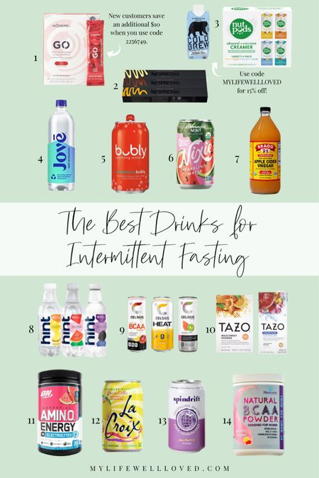 Best Healthy Drinks for Intermittent Fasting 🤩 I'm sharing what works for me and the best drinks for intermittent fasting.   #LTKunder50 #LTKhome #LTKfit