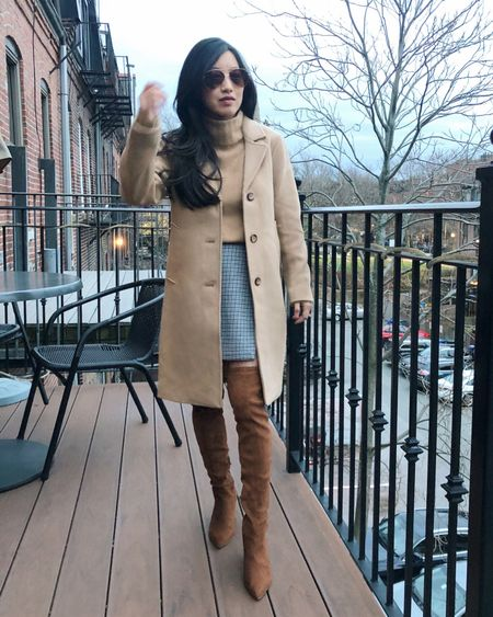 This entire fall / winter outfit is on sale for Black Friday! Boots size 5.5, 40% off a&f coat size xs petite (I would stick to your usual size - I only sized up in order to fit thicker sweaters underneath), skirt xs, 50% off my soft camel sweater in size xs. http://liketk.it/32bQF #liketkit @liketoknow.it #blackfriday #ltksalealert #ltkunder100 #otkboots