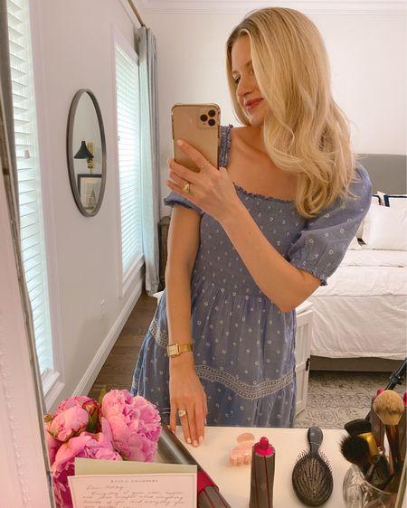 Blue puff sleeve dress http://liketk.it/3k6qt #liketkit @liketoknow.it