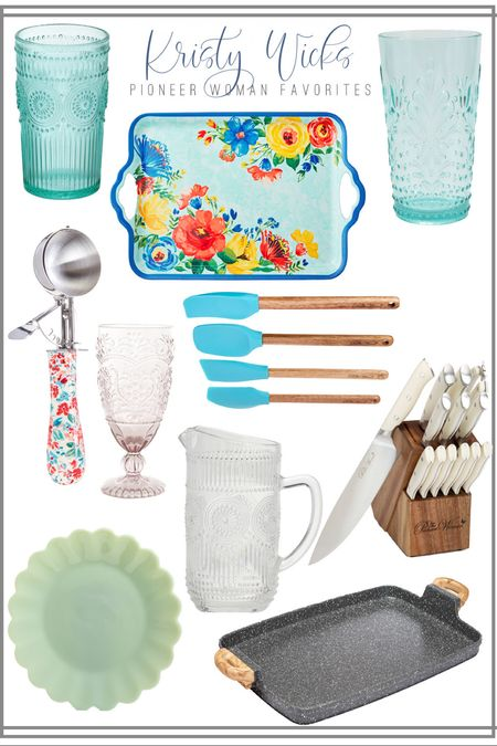 Did you watch the Pioneer Woman livestream today? She's adorable 🥰 These are my favorites from her line at Walmart! Those knives are brand new and her most comfortable handles yet. Love all the colorful glass and serveware for summer ☀️  #LTKhome #LTKSeasonal #LTKunder50