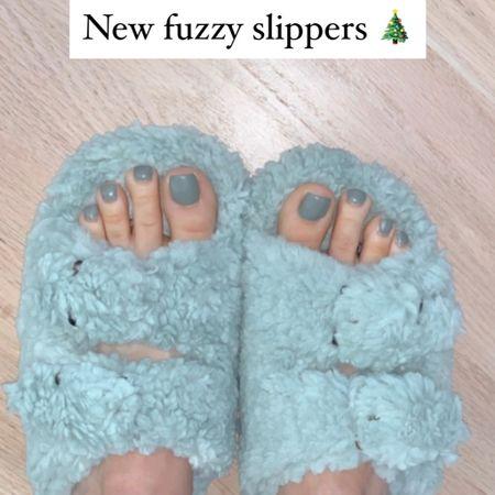 My New favorite fuzzy slippers!   #LTKshoecrush #StayHomeWithLTK #LTKsalealert