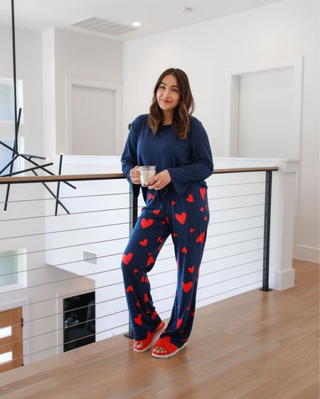 Hi there, it's @nextwithnita again! I don't say this often but you should 100% run to get this PJ set, y'all!! It's SO cozy and the heart print is so so cute. I'm wearing a medium here and I love the fit..it's not too tight or too loose. This does come in other patterns too! I don't know about you guys but I love a good PJ set and when I find a good one I basically live in it until I find the next amazing one, haha! #LTKTakeoverTuesday  #LTKunder50 #LTKstyletip