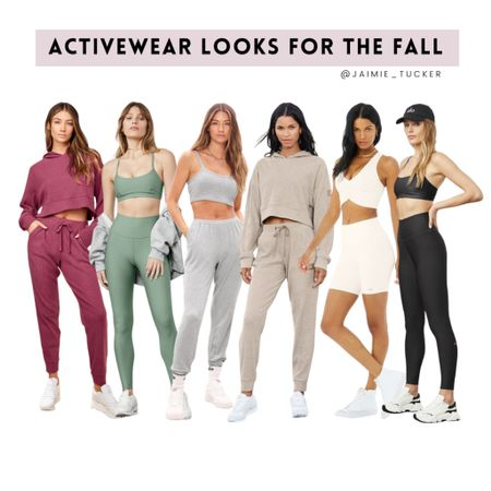 Activewear and loungewear looks for the fall. | #activewear #yogaleggings #activewearset #loungewear #fallbasics #yogawear #athleticleggings #AloYoga #bestsellers #falloutfit #loungeoutfit #JaimieTucker   #LTKstyletip #LTKfit
