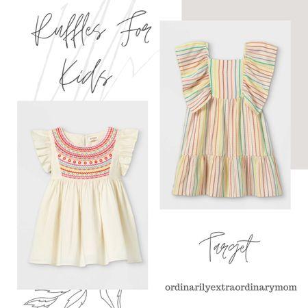 Girls ruffle top and ruffle dress from Target for summer http://liketk.it/3gkdH #liketkit @liketoknow.it #LTKkids #LTKstyletip #LTKunder100