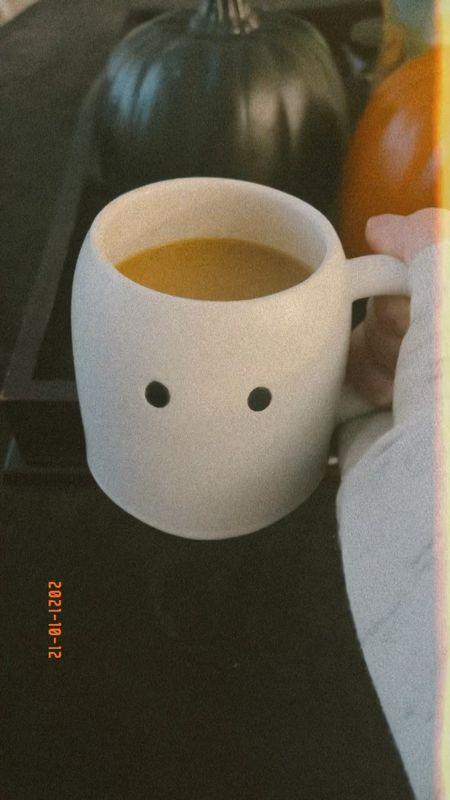 Indigo fall, autumn, Halloween ghost mug  #LTKSeasonal #LTKhome #LTKunder50