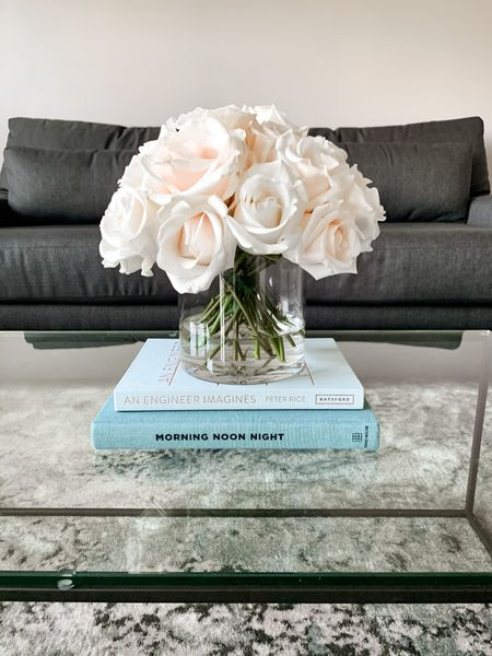 Read all about my experience with FiftyFlowers on the blog today! #CoffeeTableStyle #FlowerArrangement #Tablescape #InteriorDesign   #LTKhome #LTKunder50 #StayHomeWithLTK