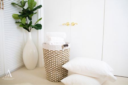 Stocked up on essentials when my family came to visit. This sea grass hamper basket came in handy while doing my laundry. I also stocked up on some new pillows, white towels and washcloths for my family. Found these while shopping Walmart Home.  #hamper #seagrassbaskets #washcloths #pillows #homedecor  #LTKhome #LTKfamily #LTKsalealert