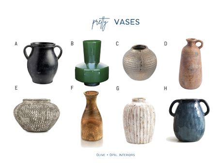 Add some color and texture to your shelves with these beautiful vases.  Decorative vases, shelf style, home accessories, home decor  #LTKhome