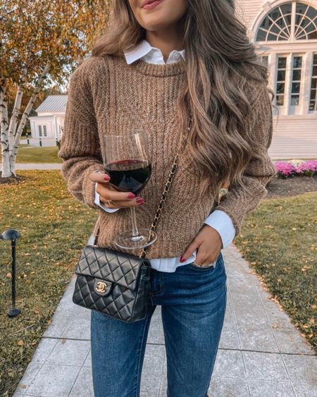 The Eleanor Camel Crew Neck Sweater   XS, TTS, cmcoving, Caitlin Covington, Pink Lily Collection, fall fashion, use code CAITLIN20 for 20% off!   #LTKsalealert #LTKunder100 #LTKSeasonal