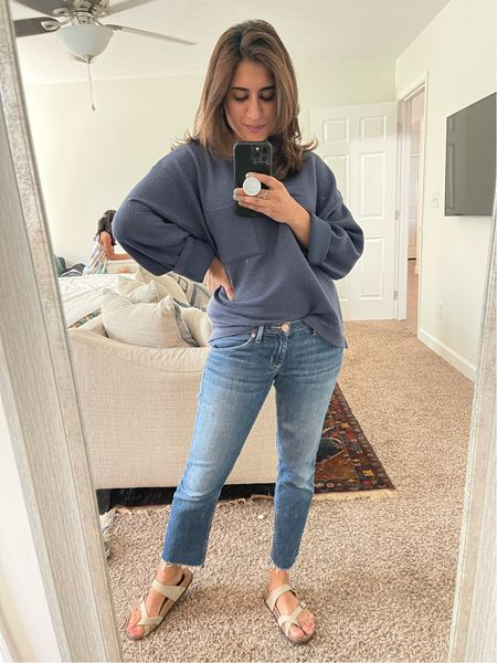 Love this long sleeved find at target. Color blue, size up for a boxy looser fit. It does run larger than sized.   #LTKunder50 #LTKbump #LTKstyletip