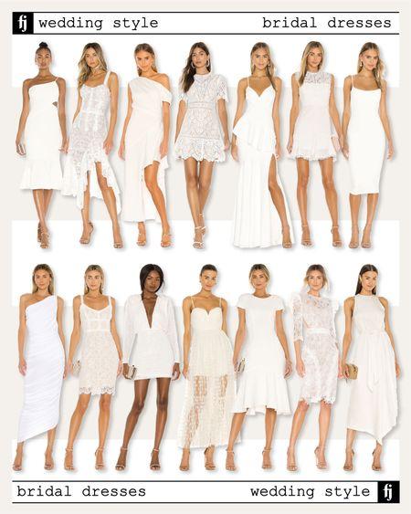 White wedding dresses for the bride to be!   #LTKstyletip #LTKunder100 #LTKwedding