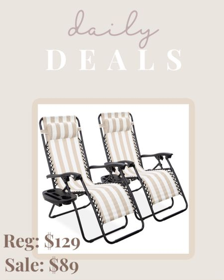 How amazing is this deal?! Use code OUTDOOR10 for a set of 2 Outdoor Recliners with cup holders! Comes in a bunch of different colors, but I'm loving this  tan and white stripe pattern! They fold up too! http://liketk.it/3b3H5 #liketkit @liketoknow.it #LTKhome #LTKsalealert #LTKfamily @liketoknow.it.family @liketoknow.it.home Shop your screenshot of this pic with the LIKEtoKNOW.it shopping app
