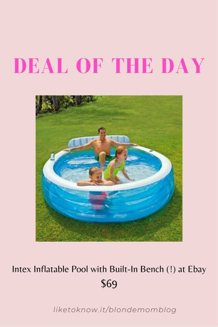 I bought this inflatable pool for the pandemic summer of 2020 and it was honestly one of the best purchases all year! The built-in bench is a game changer. So comfy and it even has drink holders! I was  able to blow mine up with a leaf blower. 🌴🤣👙🙌🏻🍹🌞 Fun for kids of all ages.   #pool #swim #inflatablepool #swimming #swimmingpool #summer #summerfun #kids #toys  #pooltoys   #LTKswim #LTKkids #LTKfamily