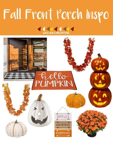 Fall front porch inspo!🍁  Target Halloween home decor | Target fall home decor | Target home decor | Halloween decor | Halloween home decor | fall doormat | front porch decor | Rachel Pitzel | Halloween | #halloween #rachelpitzel #xorachelpitzel #fall #ltkfall #falldecor #LTKunder100 #LTKunder50 #LTKsalealert @liketoknow.it #liketkit http://liketk.it/2WQTF