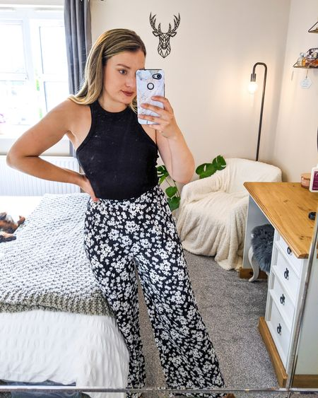 Floral trousers are always an option 🤍🖤 Palazzo trousers are possibly one of the most comfortable, flattering, prettiest and most underrated items of clothing you can wear! I'm OBSESSED with them and have been for so long 😍. How gorgeous are this pair from New Look? 🥰 . .  http://liketk.it/3jMrO @liketoknow.it #liketkit #LTKDay #LTKunder100 #LTKhome #LTKeurope #LTKshoecrush #LTKwedding #LTKworkwear #LTKbaby #LTKbump #LTKmens #LTKbrasil #LTKsalealert #LTKstyletip #LTKitbag #LTKswim #LTKbeauty #LTKkids #LTKtravel #LTKcurves #LTKfamily #LTKfit #LTKunder50 @liketoknow.it.europe @liketoknow.it.home @liketoknow.it.family