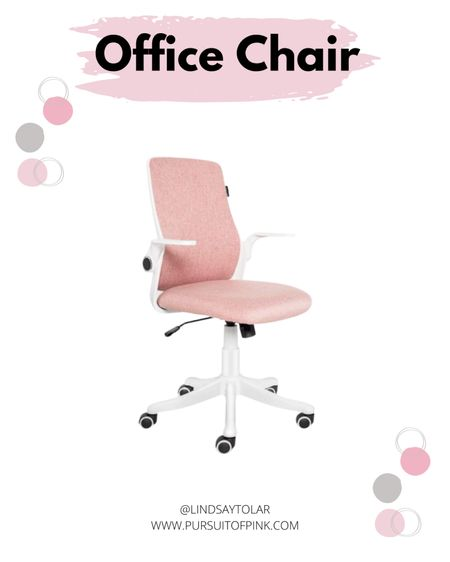 Getting my office ready for a makeover with this pink desk chair. It's extremely affordable!   #LTKunder100 #LTKhome #StayHomeWithLTK