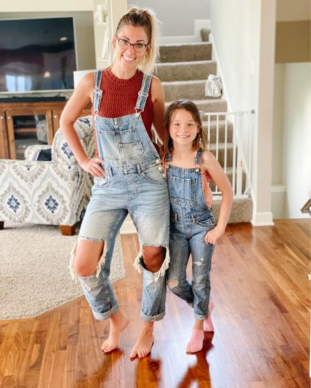 Matching overalls for me & my mini. Crochet knit tanks are in my top favs right now and I'm loving this one from Target that comes in two colors!  http://liketk.it/3gu67 #liketkit @liketoknow.it #ltkseasonal #competition .  Shop my daily looks by following me on the LIKEtoKNOW.it shopping app     #LTKstyletip #LTKunder50 #ltkseasonal #competition