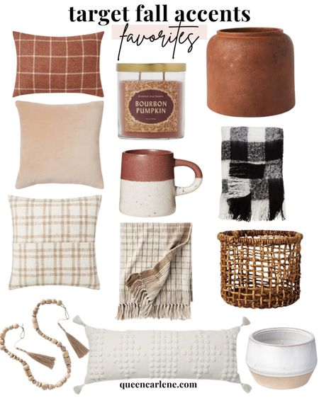 Target home decor, fall decor, fall finds, neutral decor, fall home decor, seasonal decor, fall pillows, fall blankets, fall candles, bead garland, woven basket   #LTKunder100 #LTKSeasonal #LTKhome