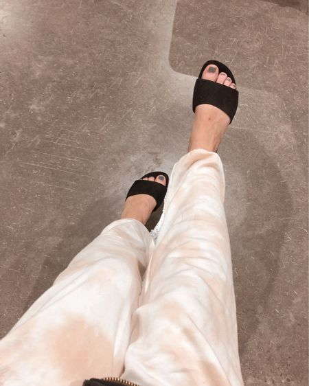 Comfy tie dye sweatpants & cute black mules! http://liketk.it/3hGP5 #liketkit @liketoknow.it #LTKshoecrush #LTKstyletip #LTKunder50