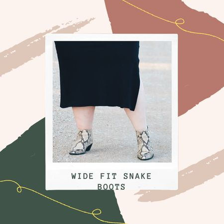 Snake skin boots go with everything and are perfect for fall! I've found some great wide fit options for you.   #LTKcurves #LTKunder50 #LTKFall