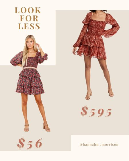 Look for Less: Floral Print Smocked Dress  Red Dress Boutique, Shopbop  #LTKunder100 #LTKstyletip