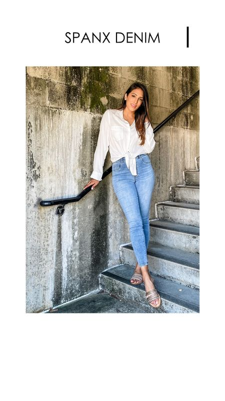 """With a built in """"gut check"""" linking- these jeans are a winner!!   #LTKtravel #LTKcurves #LTKstyletip"""