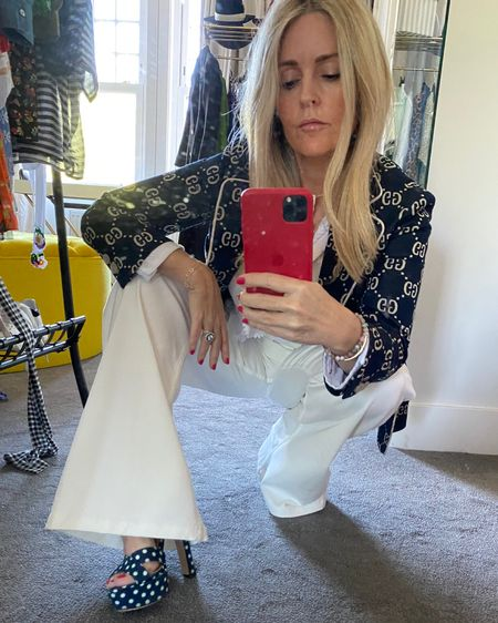 Switch tops for a more formal yet still light feel and add a heel. Then, add another layer on top for a very English take on Summer. http://liketk.it/2Tp3p #liketkit @liketoknow.it