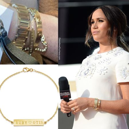 Meghan's new Jennifer Meyer nameplate bracelet #mom #holiday #christmas #gift   #LTKstyletip