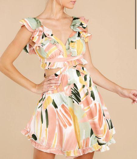 Coral print summer dress   #LTKstyletip