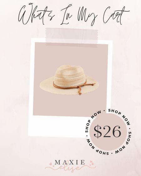 What's In My Cart - Summer Hat ☀️  #whatsinmycart #summerhat #hatsforwomen #strawhat #hat #womenshat  #LTKSeasonal #LTKstyletip #LTKunder50
