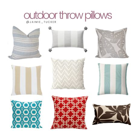 Upgrading or replenishing your backyard/patio this year? Take a look at some of the best-selling outdoor throw pillows. | #patiofurniture #outdoorpillows #throwpillows #patiodecor #patiopillows #backyarddecor #homedecor #JaimieTucker  #LTKhome #LTKSeasonal #LTKstyletip