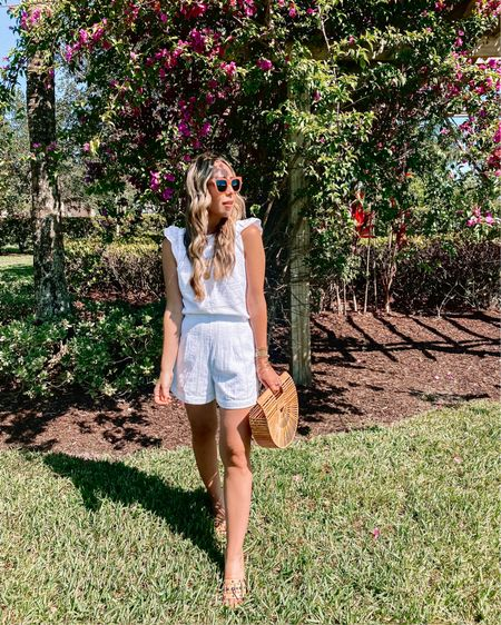 No shame in my repeat shorts set game! I can't help it they are just way too cute! 🤷🏼♀️   http://liketk.it/3hd3W @liketoknow.it #liketkit #LTKstyletip #LTKitbag